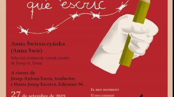 Recital i presentació de l'antologia poètica d'Anna Swir (Anna Swirszczynska)